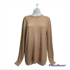 NWT Sparwood Crewneck Sweater In Camel Heather